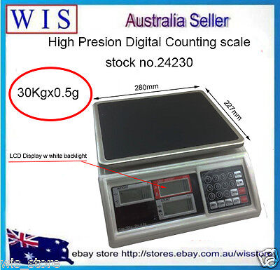 Precision Digital Tabletop Weighing and Counting Scale 30Kg Weighing Balance