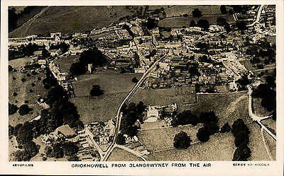 Crickhowell from Glangrwyney from the Air # 40006 A by Aerofilms.