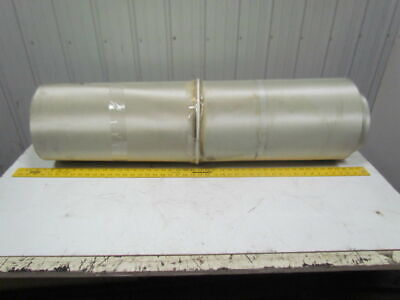 Green 1-Ply Smooth Top Nylon Backed Center V Guide Conveyor Belt 23FT X 41""