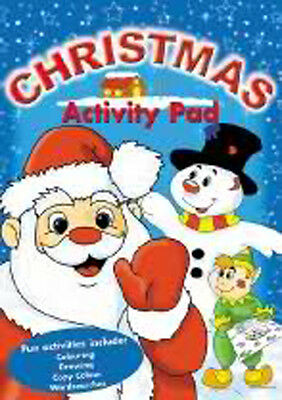 Children's Christmas Actvity Pad colouring book wordsearch puzzles dot-to-dot A4
