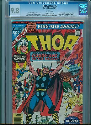 Thor Annual #6 CGC 9.8 White Pages Highest Graded Copy Guardians of Galaxy App.