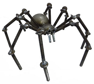 Sugarpost Gnome Be Gone Tarantula Spider Welded Metal Art Made in USA