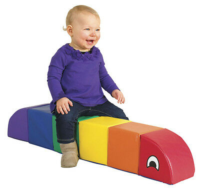 Softzone Sit and Ride SMALL Caterpillar Pro Daycare Soft Vinyl Baby Kids Child