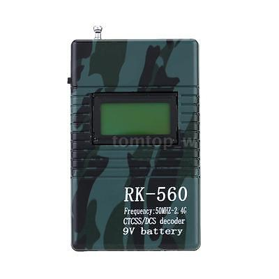50MHz-2.4GHz Frequency Counter for Carrier/Digital Signal DCS CTCSS Testing 3VW1