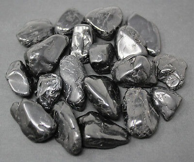 "BLACK TOURMALINE med-lg tumbled bulk stones 1//4 lb 1-1 3//8/"" Warrierite"