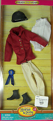 """ONLY HEARTS HORSE & PONY CLUB RED ENGLISH RIDING OUTFIT for 9"""" DOLL NEW 03201"""