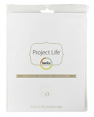 American Crafts - Project Life - Envelope Page With Pocket - 6x8