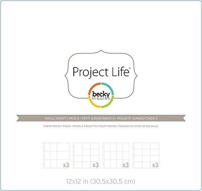 American Crafts - Project Life - Page Protectors - Small Variety Pack 5 - Design