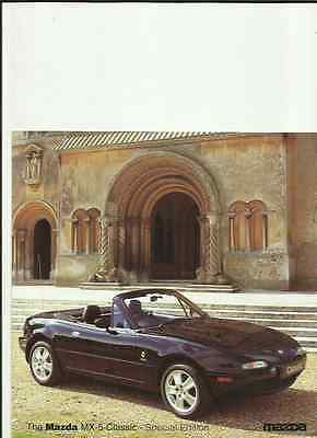 Mazda Mx-5 Classic  Special Edition Sales Brochure October 1997 For 1998