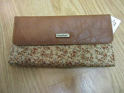 Longaberger Fall Vintage Floral Wallet W Checkbook & Coin Section