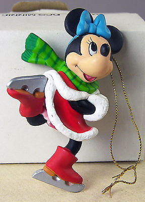 DISNEY Christmas Ornament MINNIE MOUSE Ice Skating + Box