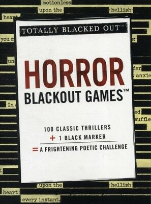 Horror Blackout Games (Blacked Out) (Totally Blacked Out) (Paperb...