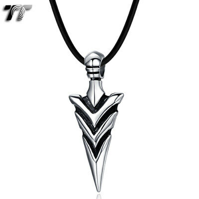 Quality TT 316 Stainless Steel Spear Pendant Necklace (NP296S) NEW