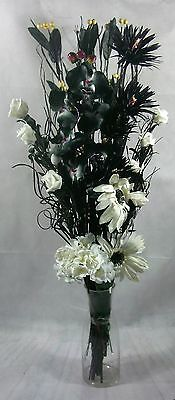 Black/white Orchid Bouquet GIFT HOME LIVING CONSERVATORY, lounge, NO VASE
