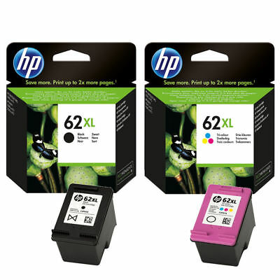 Genuine HP 62XL Black & Colour Ink Cartridge Combo Pack