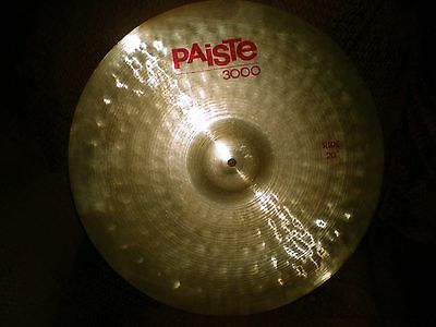 "Paiste 3000 vintage Ride Cymbal, 20"" RARE, great bell, made in Switzerland 1987"
