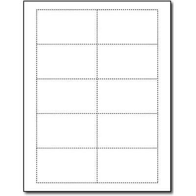 80lb White Blank Business Cards - 100 Sheets / 1000 Business Cards - Inkjet &