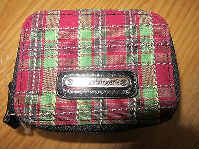 Longaberger Holiday Plaid  Fabric Pill Case for Purse