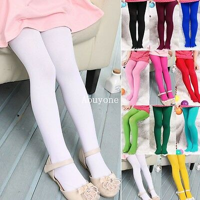 New kids Girls Toddler Pantyhose Stockings Skinny Cute Velvet tights NE