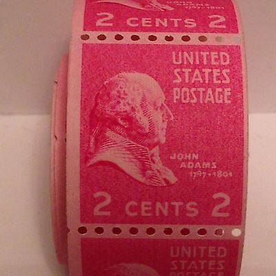 John Adams Roll Of 139 Unused 2 Cent Stamps In Mint Cond Rare