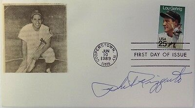 Phil Rizzuto New York Yankees Signed Bat First Day Cover