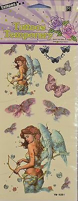 Temporary Tattoos - Angel and Butterflies