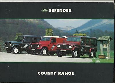 Land Rover Defender And County Sales  Brochure  1993
