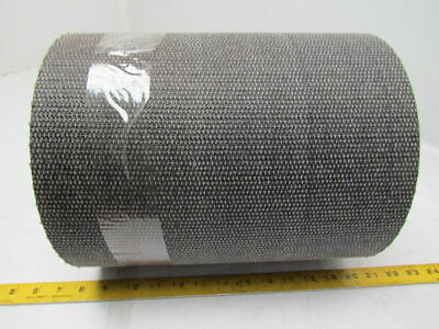 1 Ply Black Interwoven Polyester Brushed Conveyor Belt 36Ft X 11-3/4""