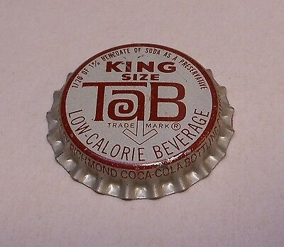 "Vintage Tab ""King Size""..cork..unused..Soda Bottle Cap"