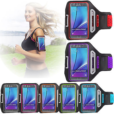 For Samsung Galaxy Note 5/4/S6 Edge Plus Sports Gym Armband Cycling Running NEW