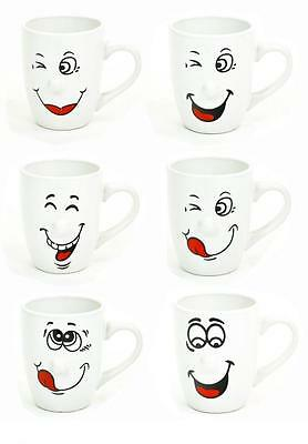 Smiley Design Ceramic 300ml Coffee Tea Cup Mug Mugs in Choice of Deals