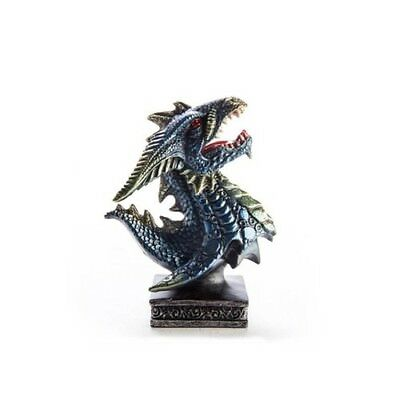 Blue Dragon Head Figurine Statue Collectible Décor Decorations Standing Display