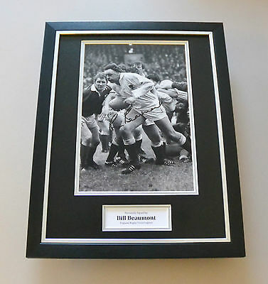 Bill Beaumont Signed Framed 16x12 Photo England Autograph Display Memorabilia