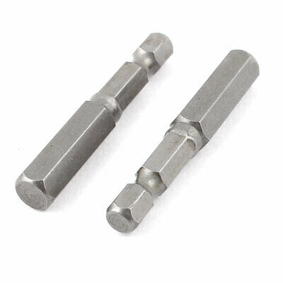 "1/4"" Hex Shank 8mm Hexagon Head Magnetic Screwdriver Bits 50mm Length 2pcs"