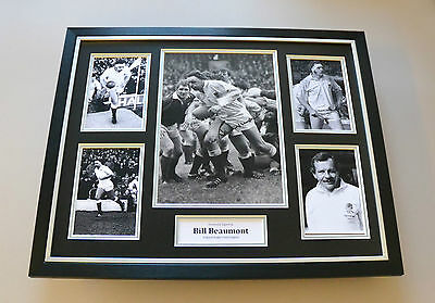 Bill Beaumont Signed Photo Large Framed England Rugby Autograph Display + COA