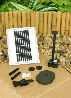 Water Pump Kit Solar Powered Feature Fountain Pool Pond Watering Plants Garden