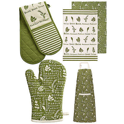 Kendal 100% Cotton Chef Tablecloth Wipe Tea Towel Oven Mitt Glove Kitchen Apron