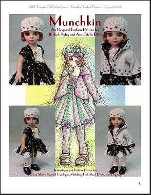 """""""Munchkin"""" Fashion Pattern for 10 Inch Tonner Ann Estelle and Patsy"""