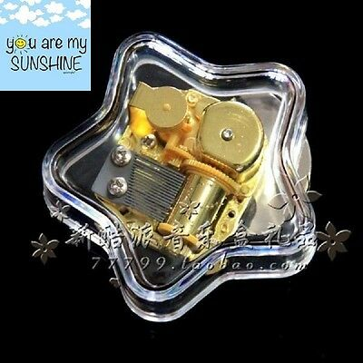 Gorgeous Star Wind Up Music Box : YOU ARE MY SUNSHINE