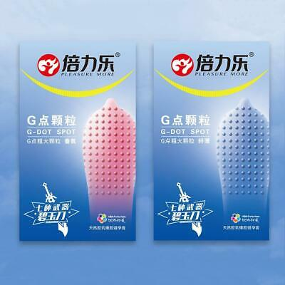 10pcs/set 520 Big Particle Spike Dotted Ribbed G-Point Latex Condoms Hot