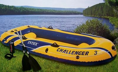 Schlauchboot Challenger 3 Set mit Paddel + Pumpe Boot Paddelboot Ruderboot Intex