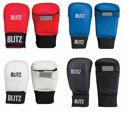 Blitz Karate PU Elite Sparring Mitts - Thumbless - with out Thumb Less