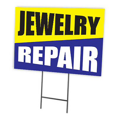 Jewelry Repair Full Color Double Sided Sign