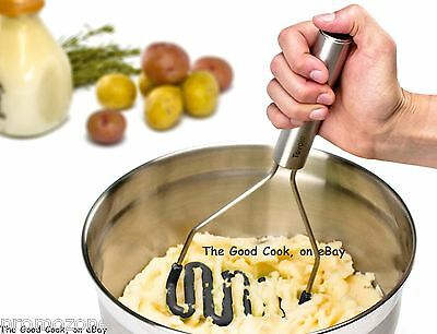 Charcoal Tovolo Potato Masher Cooking Serving Stainless Steel Silicone Ninja New