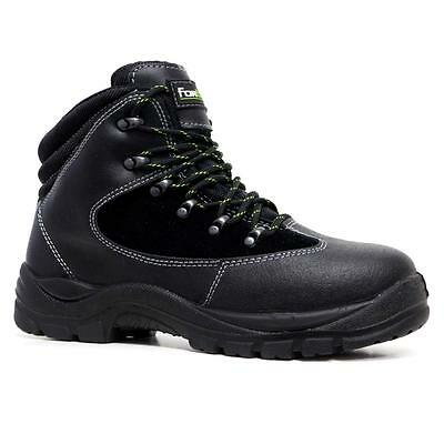 Mens Leather Safety Work Boots Steel Toe Cap Hiking Walking Shoes Trainers Size