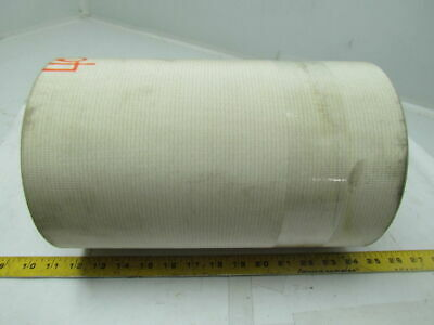 "2 Ply White Rubber Smooth Top Nylon Backed Conveyor Belt 40Ft X 12"" 0.095"" Thick"