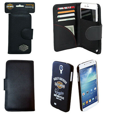 Harley Davidson Wallet and Genuine Logo Phone Cover for Samsung Galaxy S4