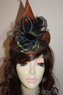 Halloween Witch Hat Headband Orange Black Green One Hundred 80 Degrees