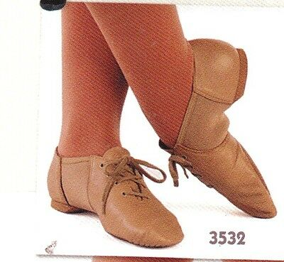 NEW/BOX Leather neoprene insert jazz shoes Tan Main Street 3532 various sizes