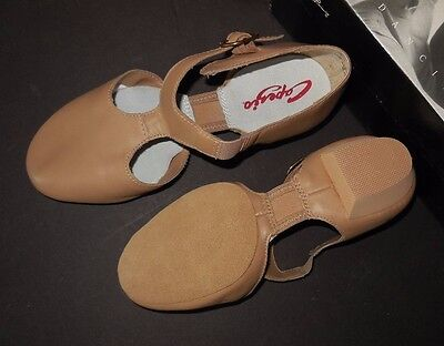NEW/BOX LYRICAL SANDAL CAPEZIO PEDINI 321 Caramel CONTEMPORARY DANCE ch/ladies